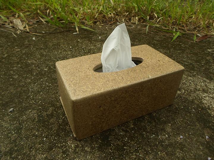 กล่องทิชชู่จากกากเบียร์       Tissue Box from Beer's waste