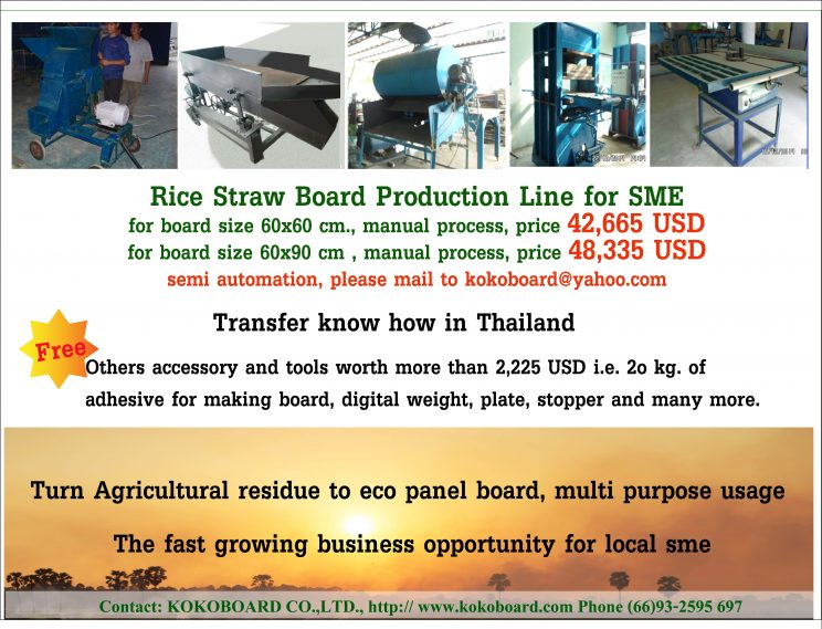 Rice Straw Board Production Line for SME