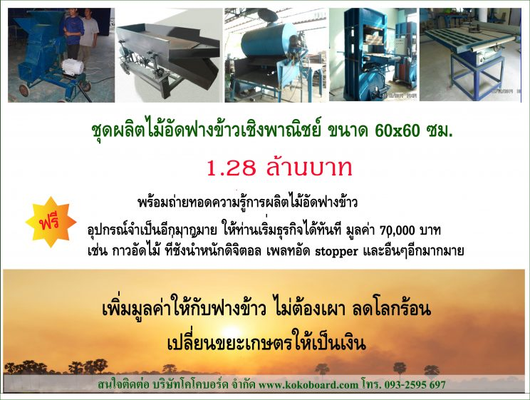 Rice Straw Board Production Line for Local SME, MSME